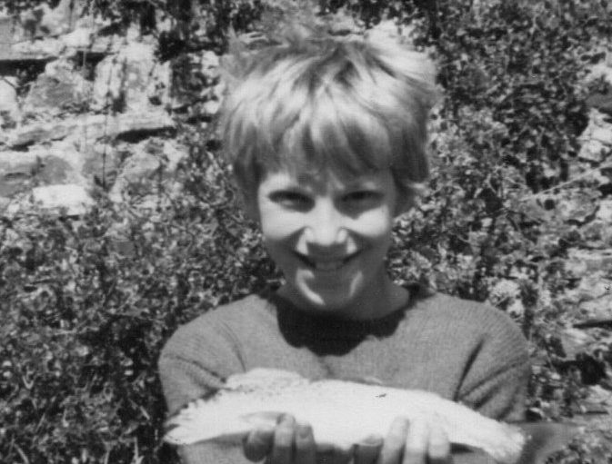 Matt at 10yrs old with small brown trout